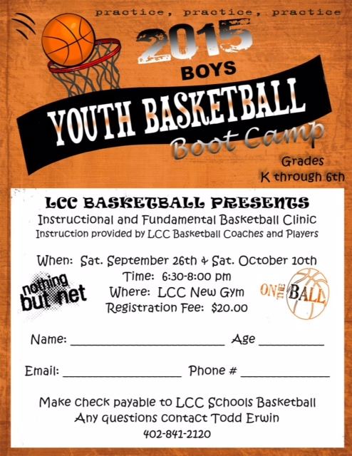 basketball camp brochure template - laurel concord coleridge public schools lcc basketball